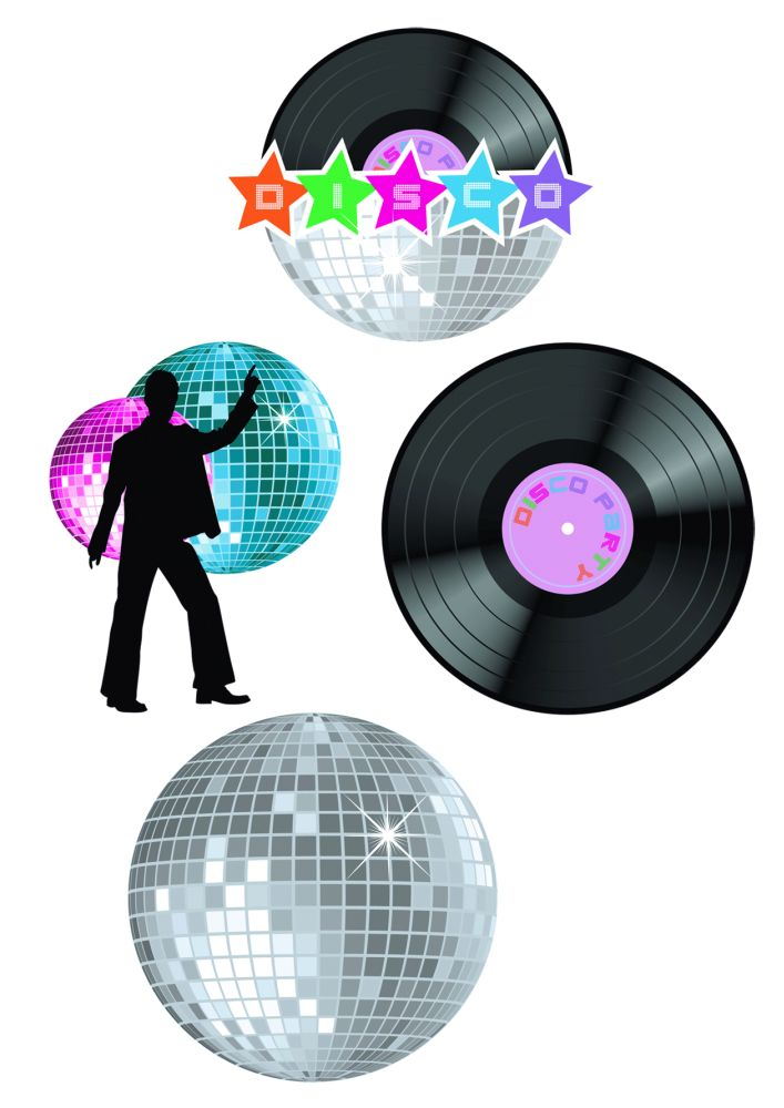Partydekoration wanddeko disco 4 teilig 70er 80er 90er jahre ebay - 90er jahre deko ...