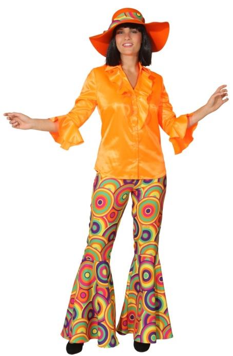 Satin r schenbluse hippie bluse 60er 70er damen ebay - Hippie bluse damen ...