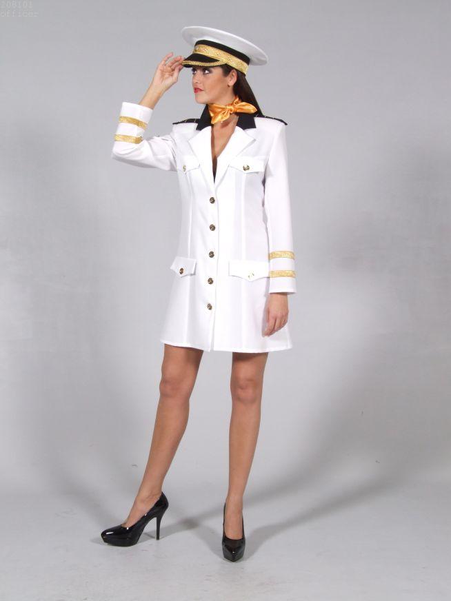offiziersdame marine kost m wei e uniform karneval fasching mottoparty ebay. Black Bedroom Furniture Sets. Home Design Ideas