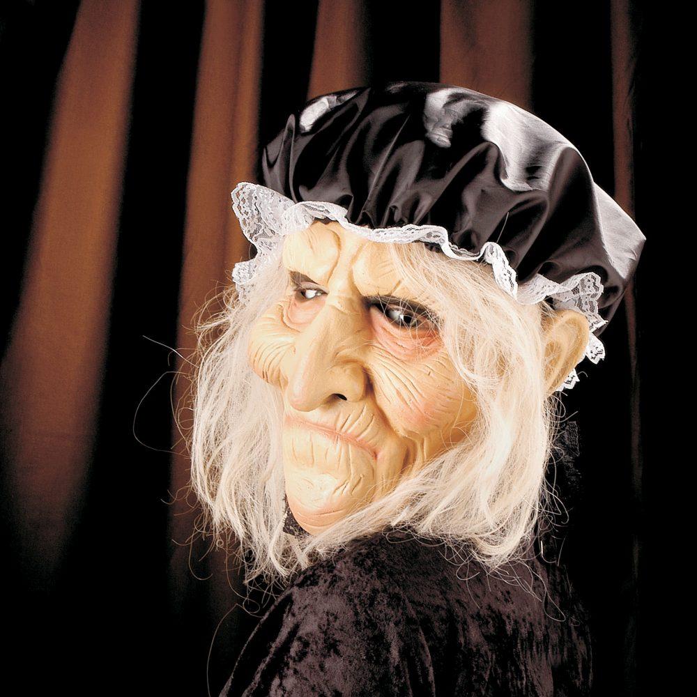 oma grossmutter alte frau maske mit haar und haube karneval fasching kostuem ebay. Black Bedroom Furniture Sets. Home Design Ideas