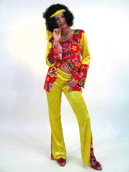 70er 80er jahre hippie schlagerparty frau karneval ebay. Black Bedroom Furniture Sets. Home Design Ideas