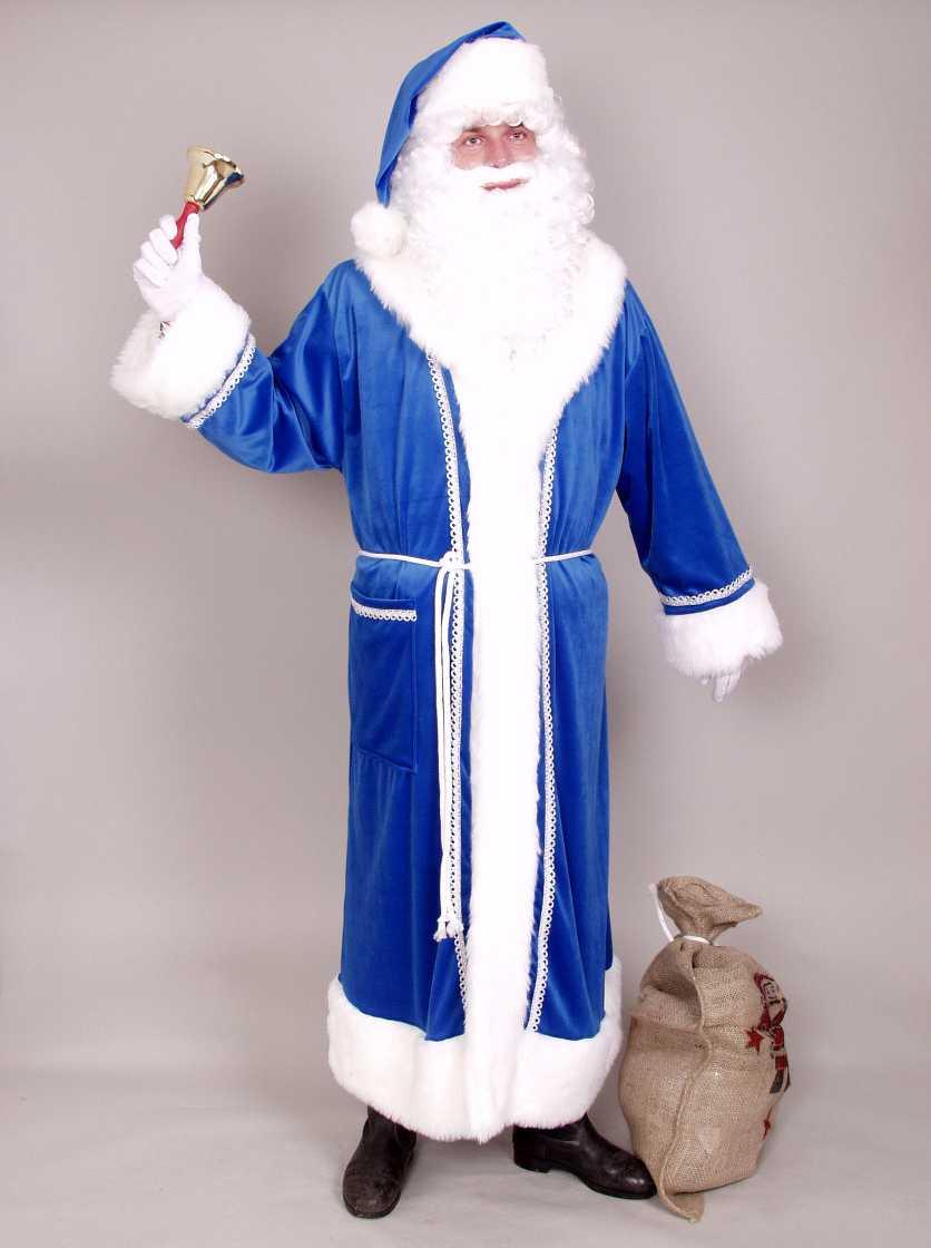 nikolaus weihnachtsmann santa claus mantel in blau. Black Bedroom Furniture Sets. Home Design Ideas