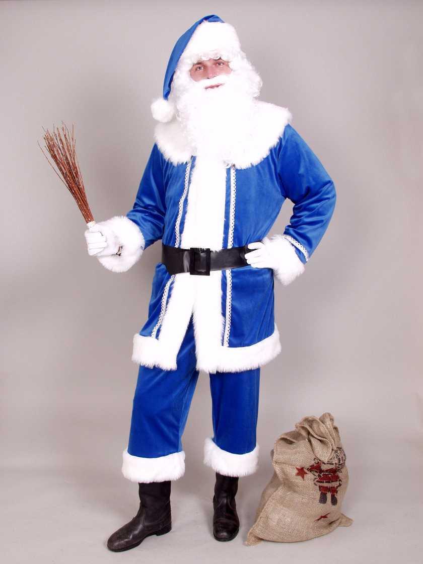 nikolaus weihnachtsmann anzug blau v terchen frost blauer. Black Bedroom Furniture Sets. Home Design Ideas