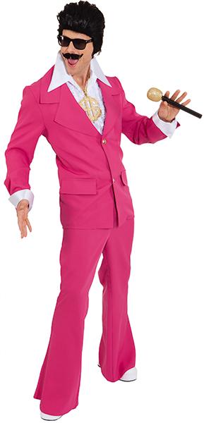 Partyanzug Partymann pink weiß oder schwarz Mottoparty Schlagerstar Top Preis