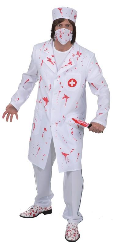 Blutiger Arztkittel Op Arzt Kostumfest Halloween Party Gruselparty