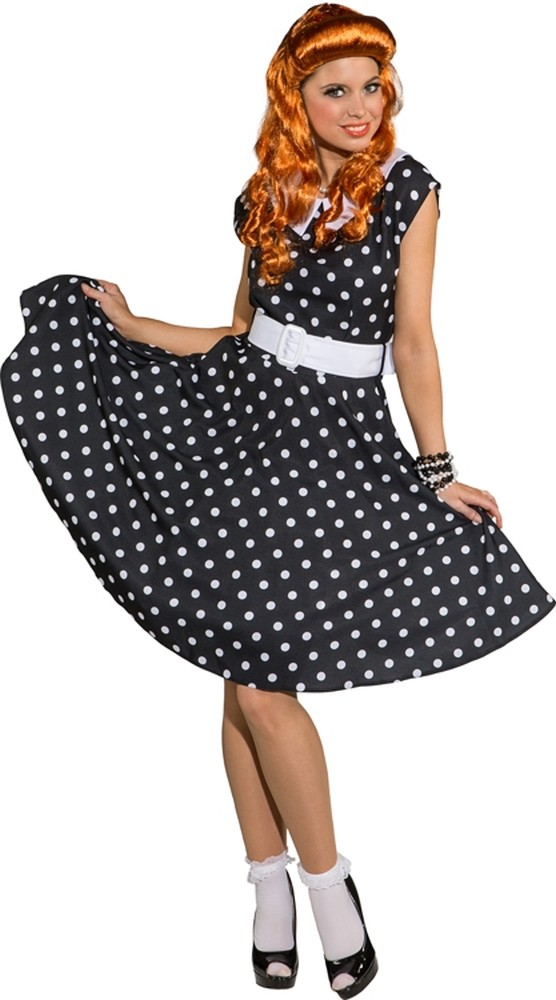 60er 70er Jahre Rock´n Roll Kleid Petticoat Schlagerparty Mottoparty ...