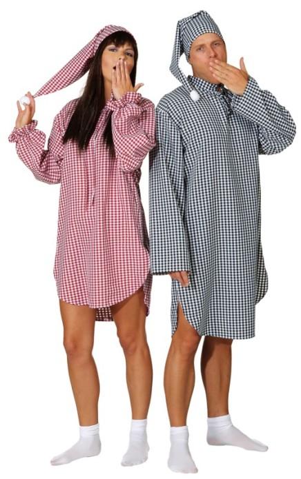 Nachthemd Schlafmutze Schlafwandler Herren Karneval Fasching Ebay