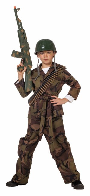 Soldaten Anzug Tarnanzug Bundeswehr Kampfer Kinder Karneval Fasching