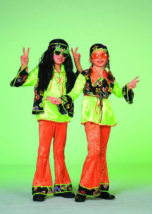 70er jahre kinder hippie kost m karneval fasching party ebay. Black Bedroom Furniture Sets. Home Design Ideas