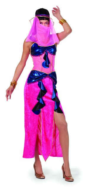 orientalerin pink blau 1001 nacht orient baucht nzerin mottoparty kost mfest. Black Bedroom Furniture Sets. Home Design Ideas