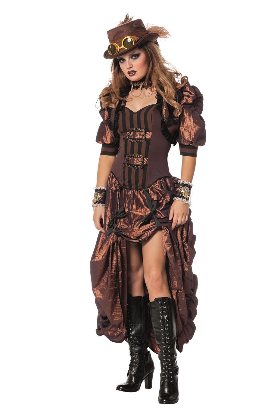 steampunk cowgirl saloongirl retro look viktorianische zeit edelpunk. Black Bedroom Furniture Sets. Home Design Ideas