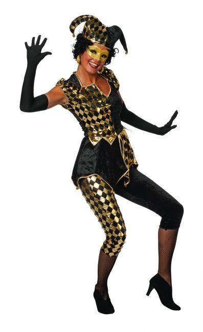 domino harlekin joker schwarz gold kost m karneval fasching mottoparty ebay. Black Bedroom Furniture Sets. Home Design Ideas