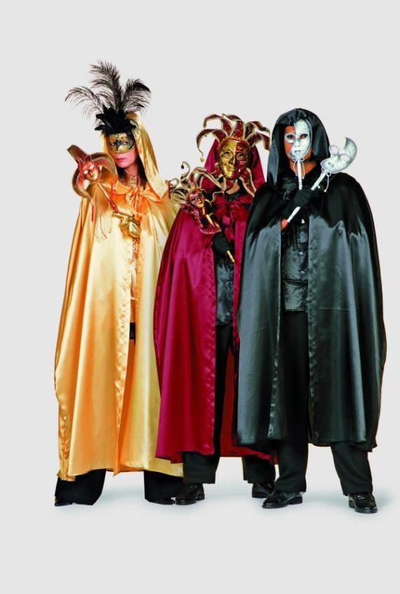 umhang cape satin venedig karneval fasching mottoparty ebay. Black Bedroom Furniture Sets. Home Design Ideas