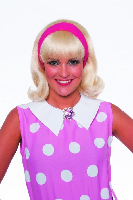 Damenperücke Twiggy mit Band 50er Jahre Faschingsperücke Kostümfest