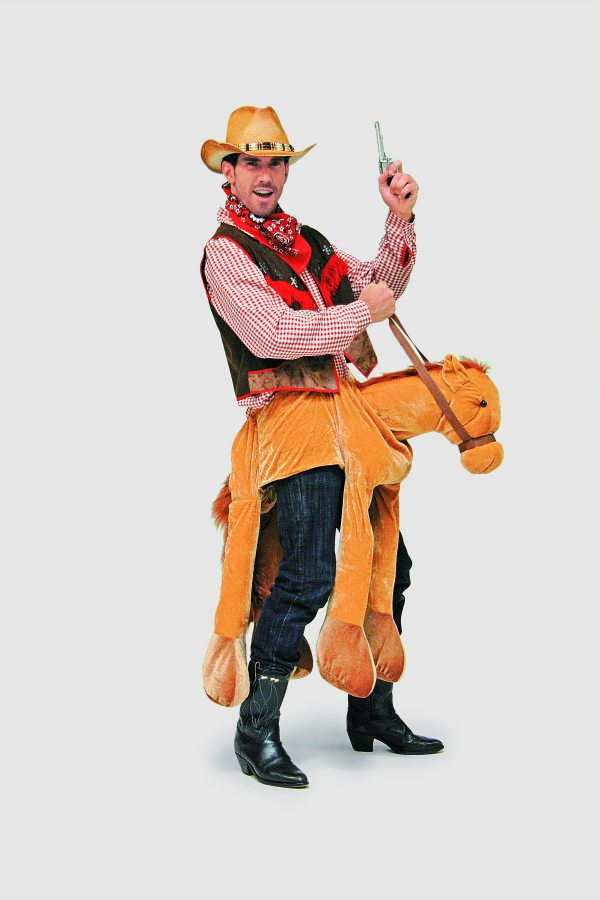 Pferd Cowboy Tierkostum Herrenkostum Fasching Karneval